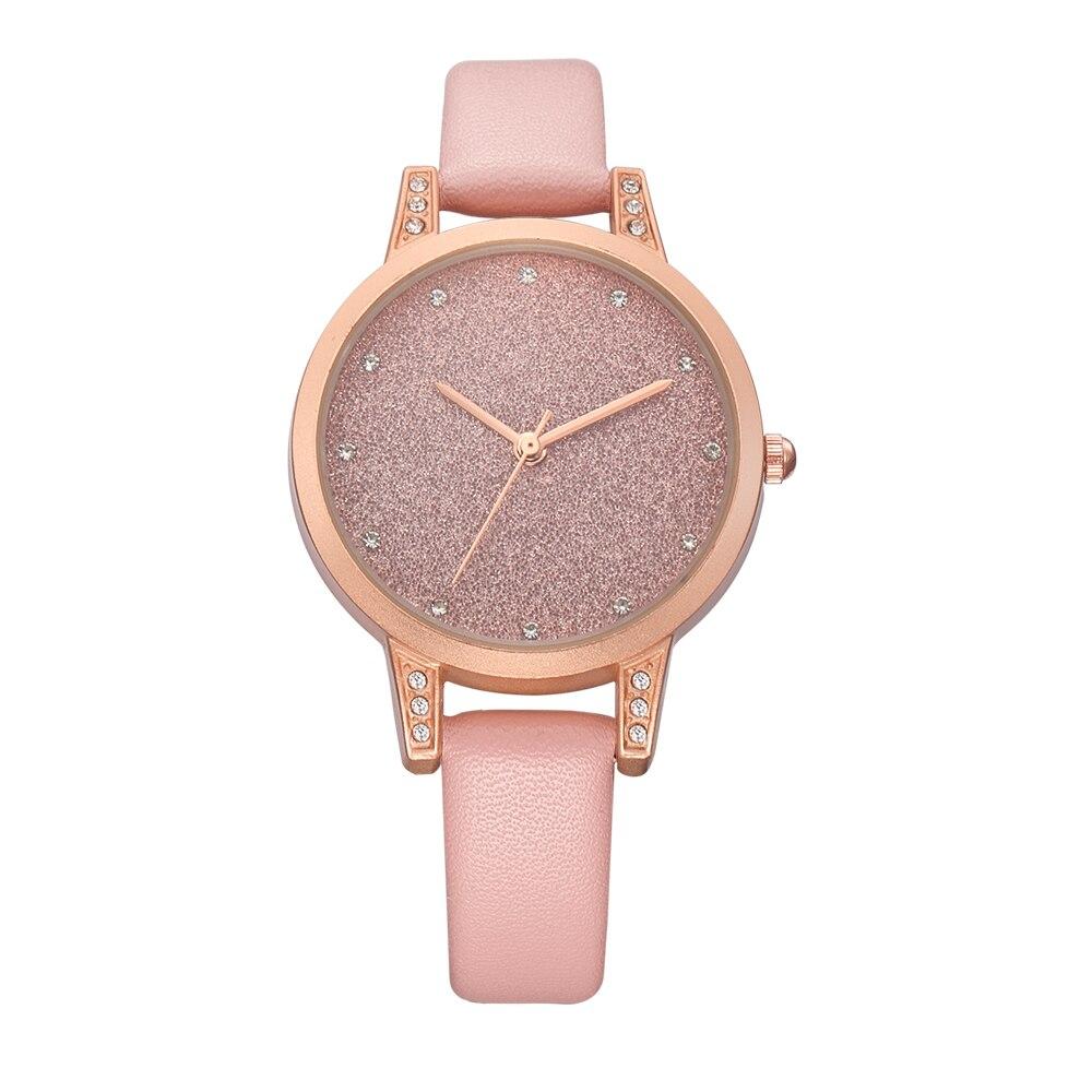Women Watches REBIRTH Leather Fashion Causal Dress Watch Rhinestone Luxury Lady Wristwatches Women Quartz Watch Bracelet Watches