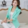 2016 Autumn Winter Lace Women Blazer New Fashion Workwear OL Brazer Slim Small Suit jacket Coat