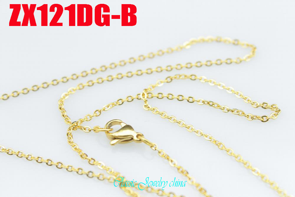 Ոսկե գույնի չժանգոտվող պողպատե վզնոց - Նորաձև զարդեր - Լուսանկար 5