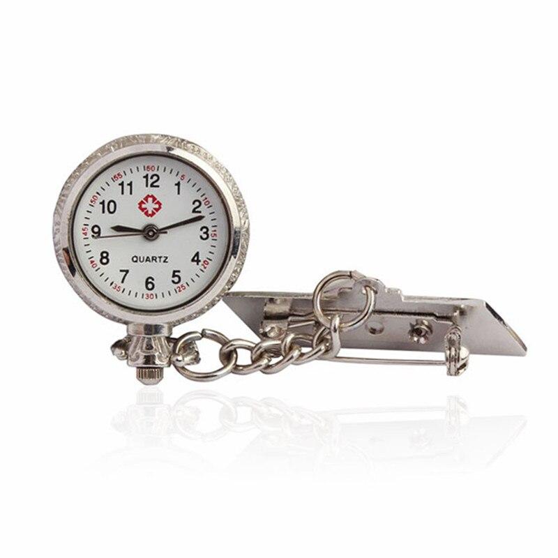 Unisex arābu metāla Fibula medmāsa baltā zvana kvarca kabatas pulksteņa dāvana Bezmaksas piegāde 0717