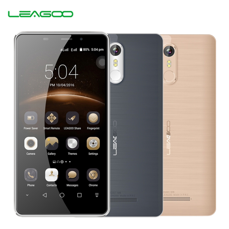 "Leagoo M8 Smartphone 5.7""HD IPS Display Android 6.0 MT6580A Quad Core 2GB RAM 16GB ROM 3500mAh Battery 13.0 MP OTA Fingerprint Phone"