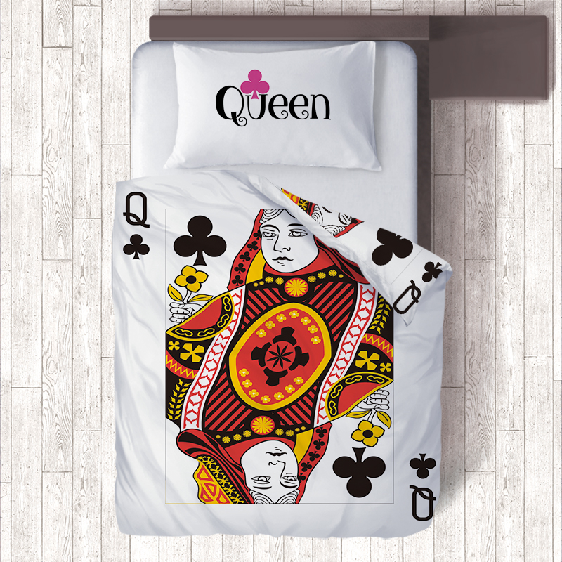 Nordic Home Decor Funny Poker Pattern Queen Bedding Sets include Kids Duvet Cover & Pillow Cases,Single Quilt Emoji Bedding SetNordic Home Decor Funny Poker Pattern Queen Bedding Sets include Kids Duvet Cover & Pillow Cases,Single Quilt Emoji Bedding Set