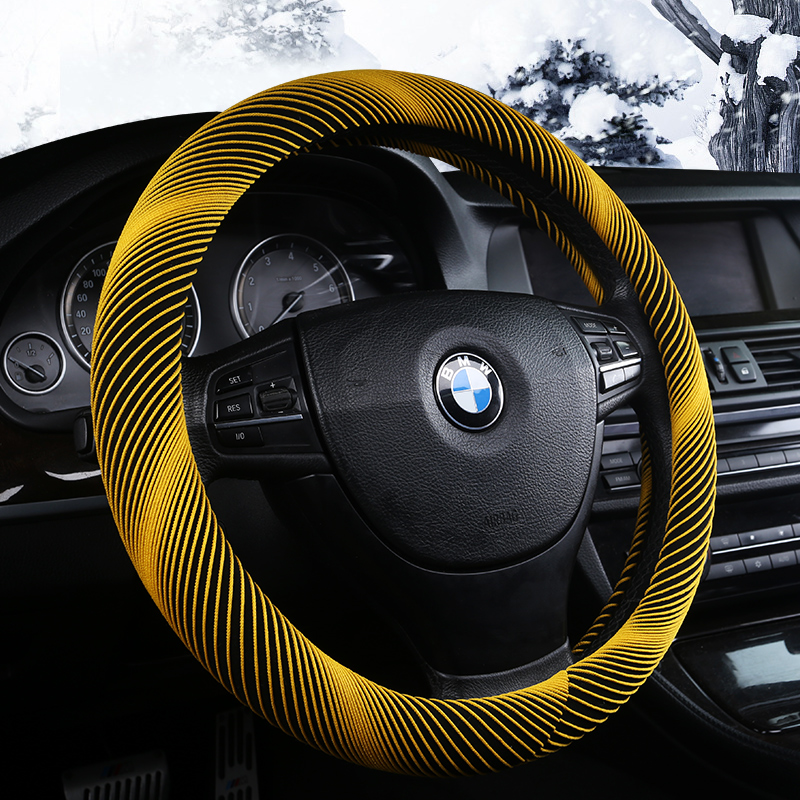 Winter car supplies steering wheel sets, 7 colorful Plush warm direction disc set, suitable for the 38CM size direction disk sle