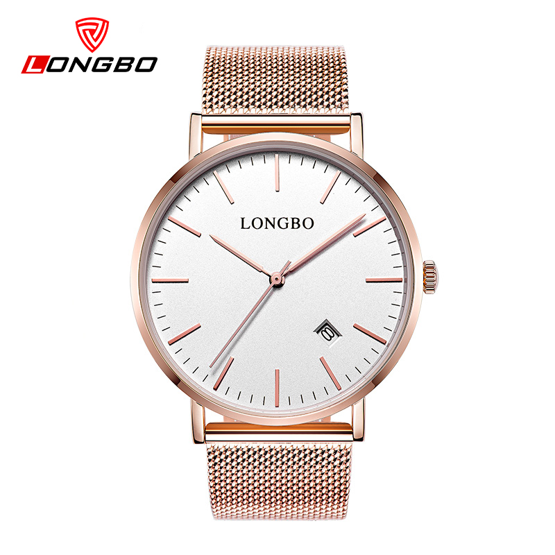 LONGBO Brand simple watch men luxury ultrathin relogio gold quartz watches business wristwatch dress clock relojes hombre 5009