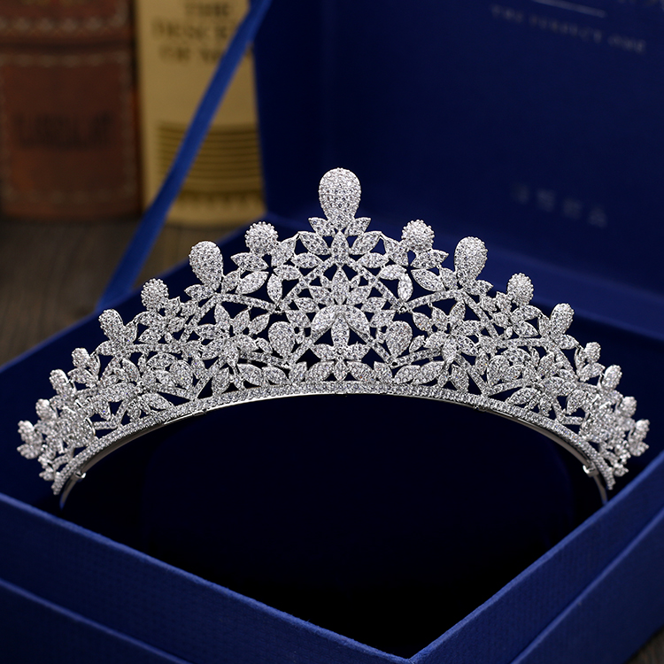 Fashion retro luxury crystal flowers CZ zircon crown wedding bride dinner banquet dressing  jewelry Beauty tiaras free shippingFashion retro luxury crystal flowers CZ zircon crown wedding bride dinner banquet dressing  jewelry Beauty tiaras free shipping