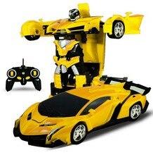 Трансформатор Радиоуправляемый 2 в 1, для вождения спортивных автомобилей, трансформирующиеся модели роботов с дистанционным управлением