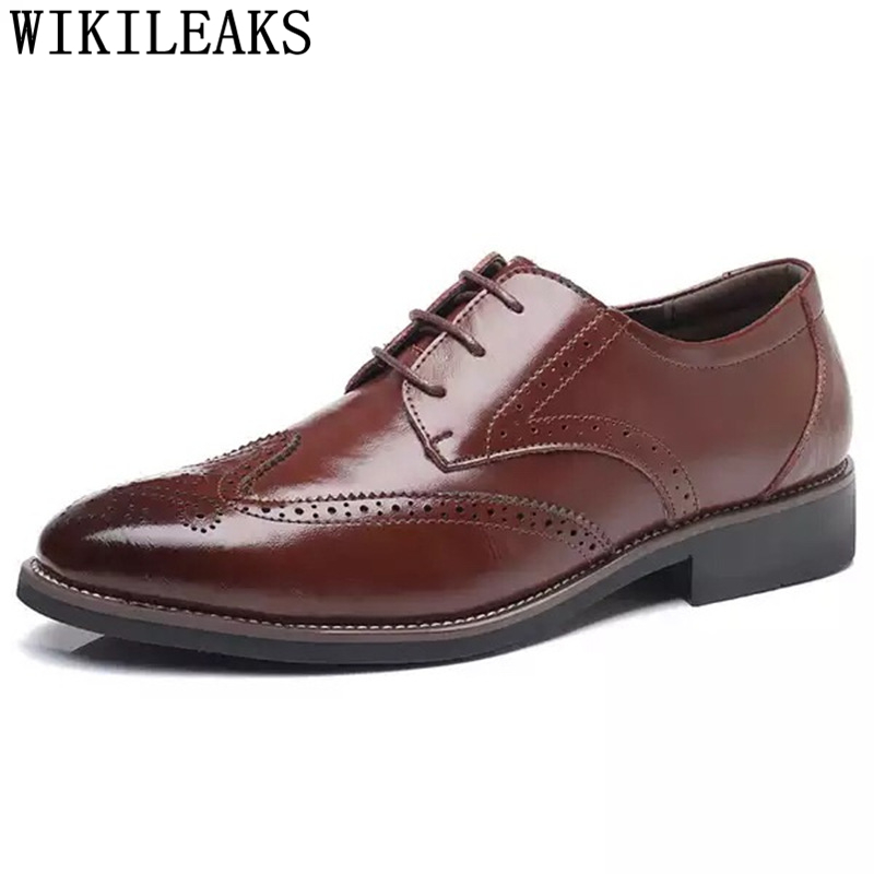 Designer Italian Shoes Man Genuine Leather Oxford Shoes