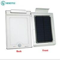 1 6W 46 LED Solar Light Outdoor Lamp Waterproof Energy Saving Wall Light Motion Sensor Solar