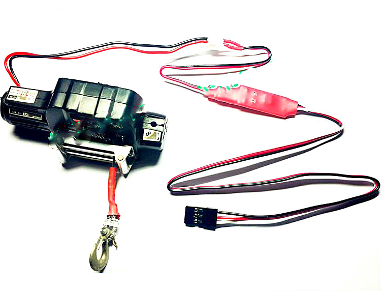 Climbing car model simulation large torque reversing retractable winch controller will not burn a large current stall