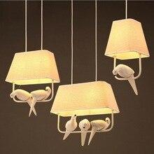 Европейские смолы люстры с птицами светодиодные лампы ретро искусство люстра E27 светодиодный светильник ing гостиная led блеск светильник кулон/подвесной светильник MING