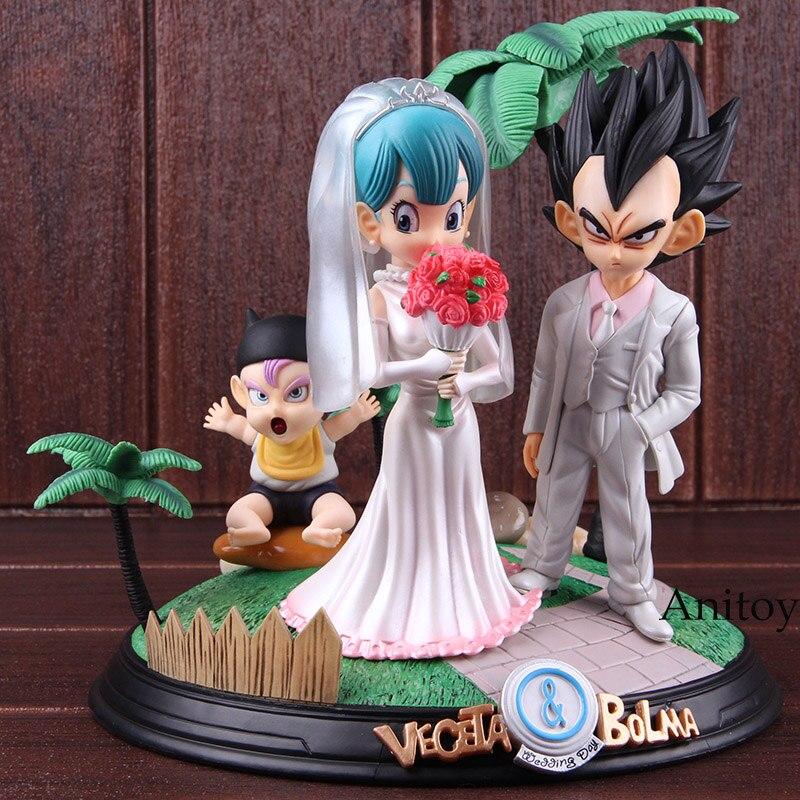 Игрушка из аниме Dragon Ball Vegeta & Bulma свадебный день ПВХ Статуя Фигурка Коллекционные Фигурки игрушки Dragon Ball Набор - 2