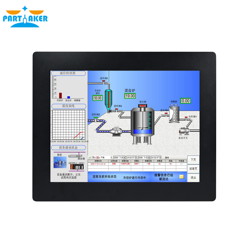 Z14  Panel PC I7 4600U Fan Embedded Touch Screen Panel PC 15 Inch Industrial Capacitive Panel HD-MI PC 4G RAM 64G SSD