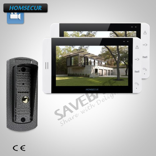 HOMSECUR Ship from RU 7 Wired Video&Audio Home Intercom+Touch Button Monitor