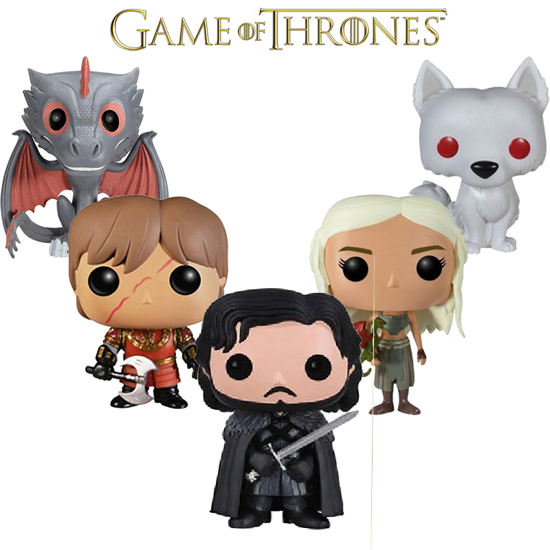Game of Thrones Jon Snow Daenerys Targaryen  Drogon Ghost PVC Movie Vinyl Movable head Cute Action Figure Toys christmas gift aftermarket motorcycle parts spike air cleaner kits intake filter for honda shadow 600 vlx600 1999 2012 chromed