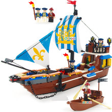 GUDI Pirate Series Royal Warship Vasa Ghost Ship large Models Building Blocks Sets Bricks Educational Toys for Children gift недорго, оригинальная цена
