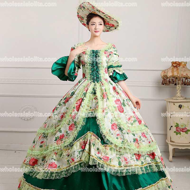 18th Century Period Court Dress Belle weddings/ Marie Antoinette ...