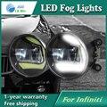 Super White LED Luzes Diurnas Para Infiniti FX37 FX50 QX70d QX80 Barra de Luz Drl Estacionamento Luzes de Nevoeiro Carro 12 V DC Cabeça lâmpada