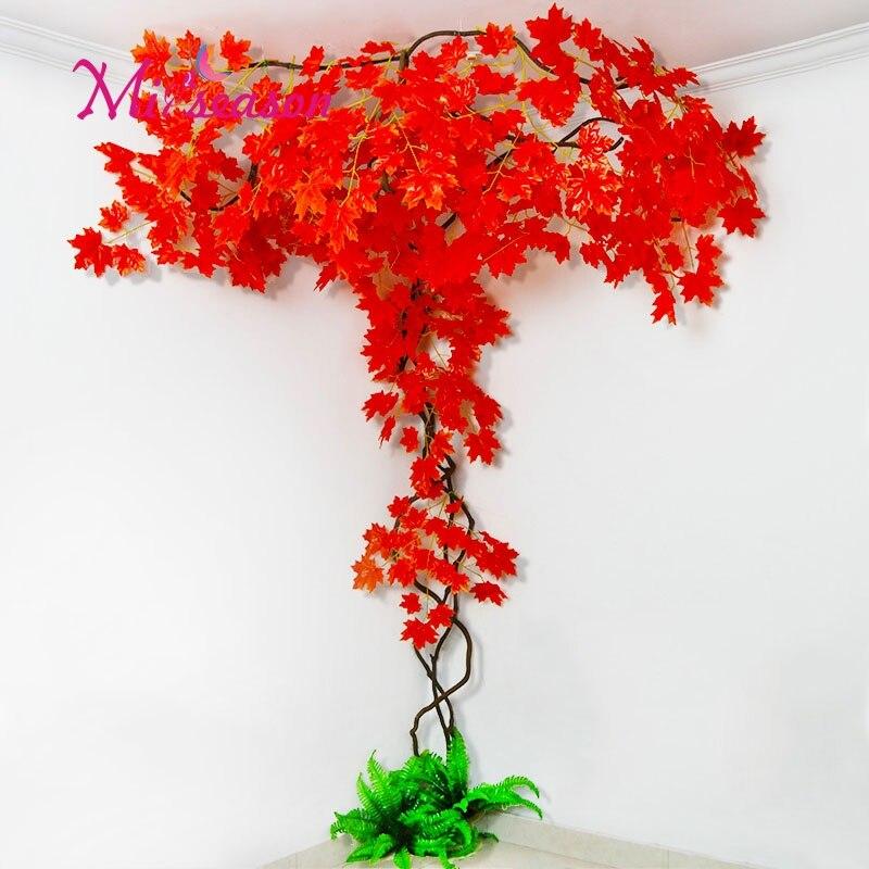 New FAI DA TE verde paesaggio artificiale foglie di decorazione di interni per il matrimonio a casa della parete del salone falso fiore pianta decorativa - 2