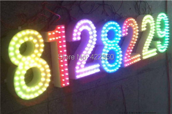 Factory Outlet Stainless Steel RGB Punch Words,  Through Holes Letters