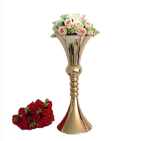 65cm height flower vase gold metal candle holder candle stand wedding centerpiece event party road lead home decor 10 pcs/ lot