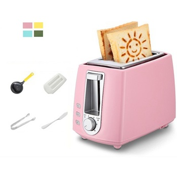 DMWD 6 Gear 220V Home Electric Toaster 2 Slices Bread Oven Automatic Breakfast Maker With Dustproof Lid Egg Mold Bread Clip