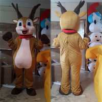 Christmas Reindeer Mascot Costume Suits Party Adult Cosplay Game Dress Halloween