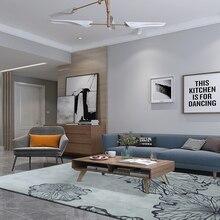 ALITEXTILEBTOC Plus Size Carpet For Home 100% Acrylic Texture Lotus Leaf Pattern Style Non-slip Parlor Bedroom