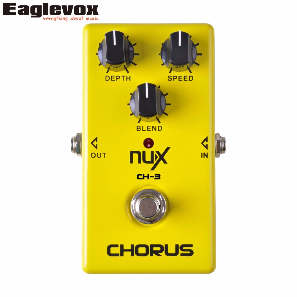 NUX CH-3 Vintage Chorus Guitar Effect Pedal Low Noise BBD In Delay Circuit True Bypass Hardware Dwitching LED Indicator Shows aroma ach 1 true bypass guitar electric effect pedal chorus low noise metal effectors guitar parts