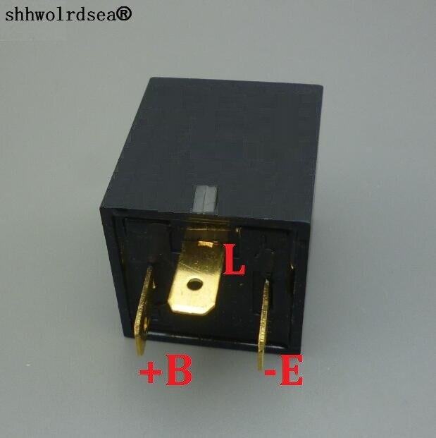 shhworldsea 100pcs 3 Pin Car Flasher Relay For 12v 24v Car Motorcycle Flasher Fix Led Turn Light Indicator Strobe