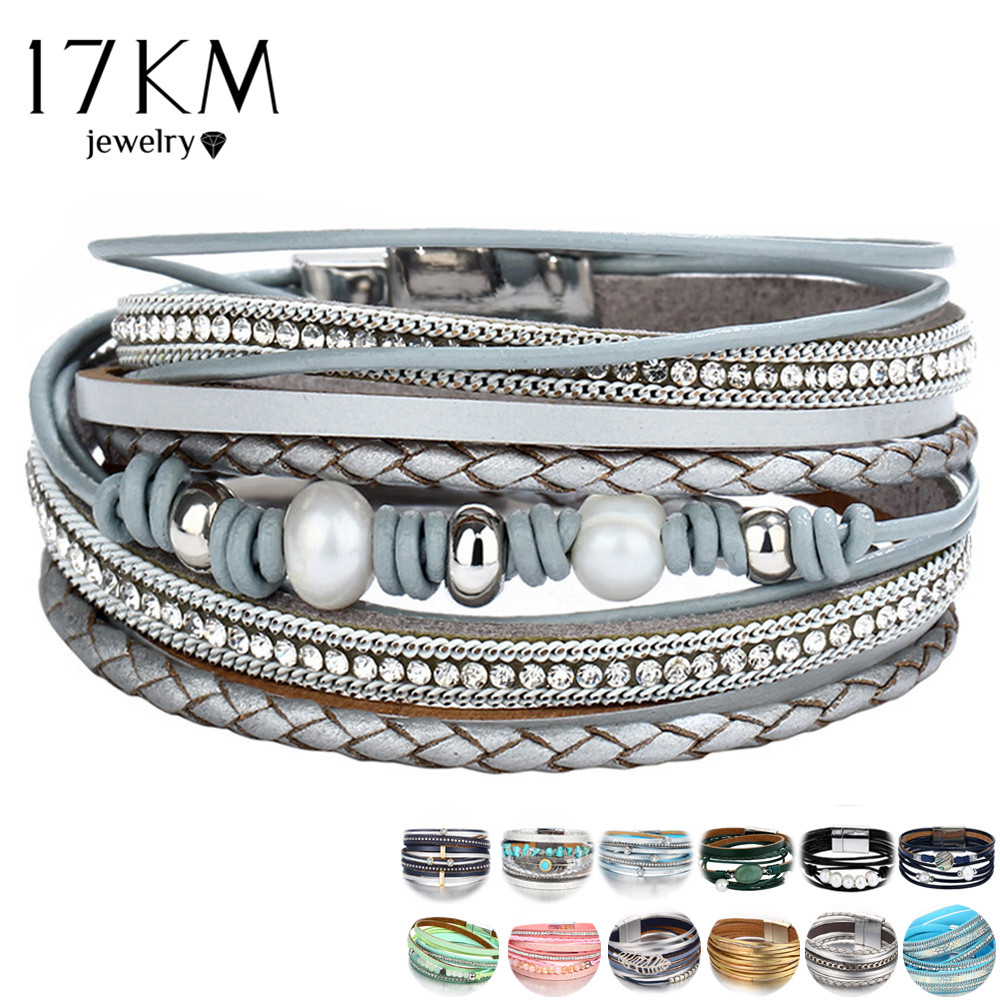 26 Design Vintage Multiple Layer Leather Bracelet For Women Men New Bead Pearl Charms Wrap Bracelets 2019 Femme Fashion Jewelry|bracelets for|leather bracelets for womenleather bracelet - AliExpress