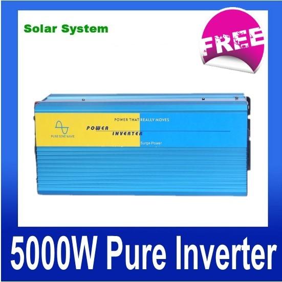 цена на 5000W zuivere sinus omvormer 5000w power inverter 12v 220v pure sine wave inverter for solar system (5000)