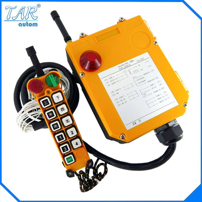 F24-10D(include 1 transmitter and 1 receiver)/10 channels 2 Speed Hoist crane remote control wireless radio Uting remote control f21 4s include 2 transmitter and 1 receiver 4 channels1 speed hoist industrial wireless crane radio remote control uting remote