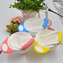 2016 NEW Baby Kid Learn Dishes Grinding Bowl Handmade Grinding Food Supplement Children Infant Food Mill shipping randomly