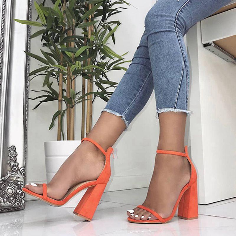 ASILETO women sandals high heel open toe faux suede leather sandals roman gladiator sandales zipper cover