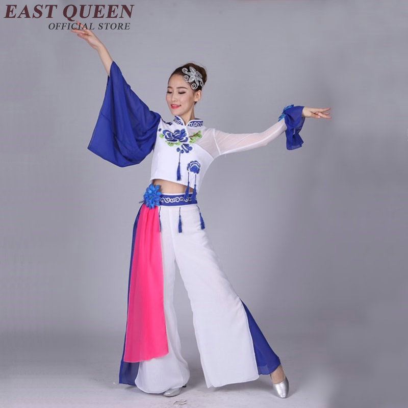 c6bd760ef494 Oriental dance costumes women chinese folk dance traditional chinese dance  costumes chinese stage costumes for singers KK611-in Chinese Folk Dance from  ...