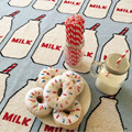 2017 Hot Sale 90*110cm Lovely Milk Bottle Pattern Play Mats Multi-Function Blankets Developing Crawling Rug Carpet Toys For Baby