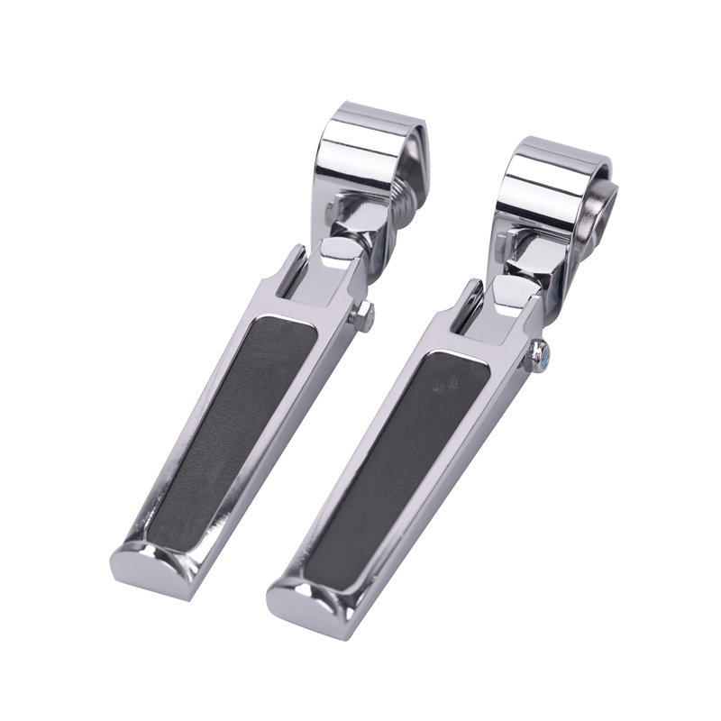 Motorcycle Highway Pegs Folding U-Clamp Foot Peg Pedal Foot Rest Engine Crash Bar Aluminum CNC For Harley Davidson Honda Suzuki