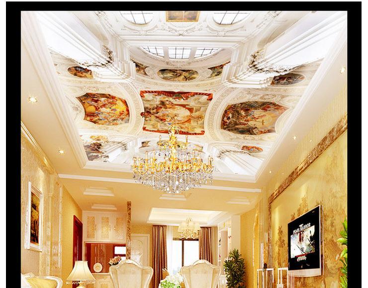Benutzerdefinierte 3d Fototapete 2017 Vlies Europischen Stil Luxus Wohnzimmer Condole Top Zenit Decke Wandbilder Wallpaper