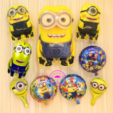 foil 1st birthday balloons for birthday minion party decoration supplies despicable me inflatable minion balloon helium снегокат snow moto minion despicable me yellow 37018