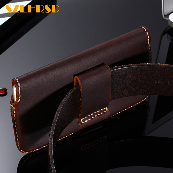 Image 2 - Vintage Belt Clip Phone Bag for Apple iPhone XR XS Case Genuine Leather Holster for iPhone8 7Plus 6s SE 5S 4S cover high qualityFlip Cases   -