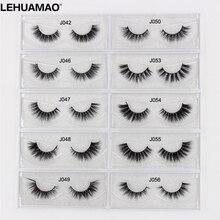 LEHUAMAO Mink Eyelashes Long Lasting 3D mink lashes Cross thick extension False Lashes High Volume Dramatic eye New