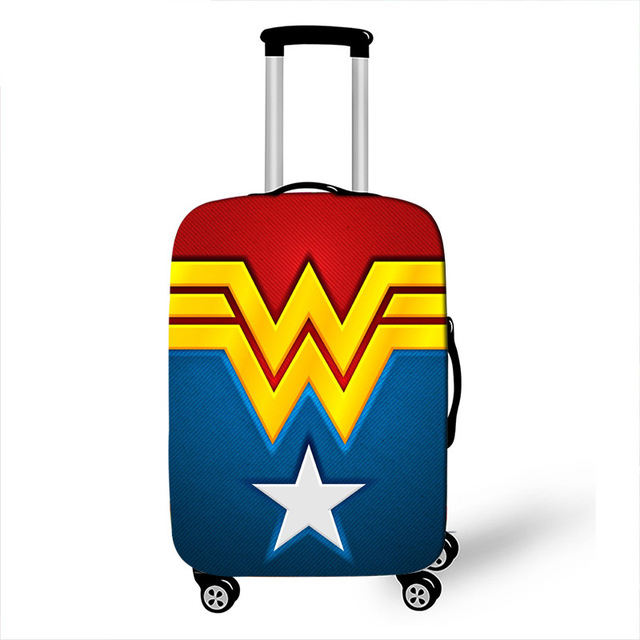 18-32 Inch Comics Super Hero Travel Luggage Cover Suitcase Protective Cover Elastic Anti-dust Case Cover Suitcase
