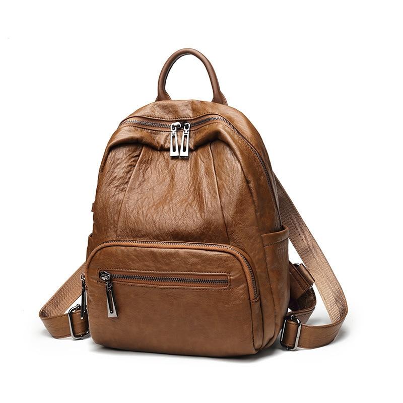 Fashion Women Backpack female genuine leather packsack Girl School Bag High Quality Ladies Bag Designer Mochila Escolar new C502