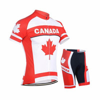 canada Cycling Jerseys set 2019 Team Ropa Ciclismo Men Bike Bicycle Jersey Cycling Cloth 9D GEL Breathable Pad 100% Polyester