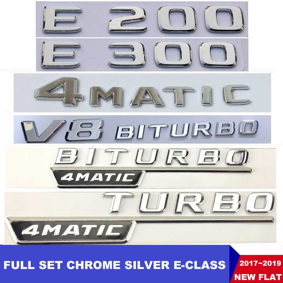 Düz krom W212 W213 araç amblemi E200 E250 E300 E320 E350 harfler rozeti otomatik 4MATIC Logo Emblema De Carro için mercedes Benz AMG