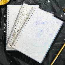 Galaxy лазерная прозрачная записная бумага для органайзера, планировщик золотых и серебряных линий, пустая точечная катушка, записная книжка, дневник, Bullet Journal A5