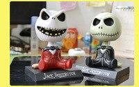 12cm Gift Box Jack Skeleton Action Figure Car Decoration Doll PVC The Nightmare Before Christmas Jack