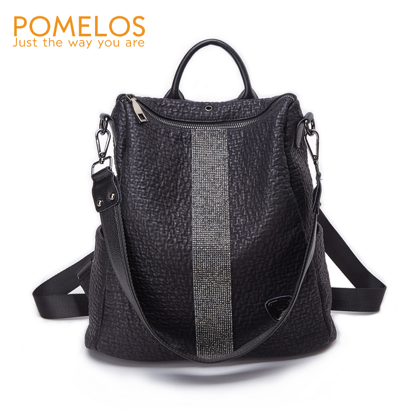 POMELOS Fashion Women Backpack Top Quality Microfiber Synthetic Leather Backpack For Women Anti Theft Backpack Waterproof