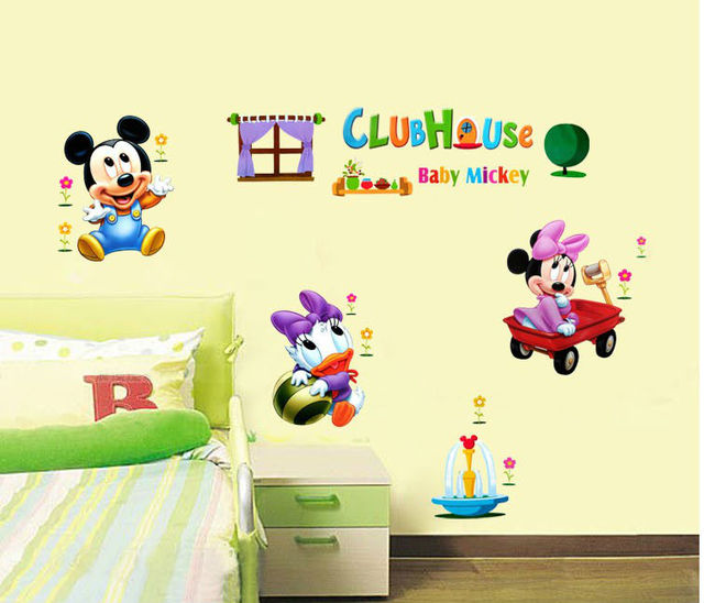 child cartoon cute animals crystal wall stickers child real ...