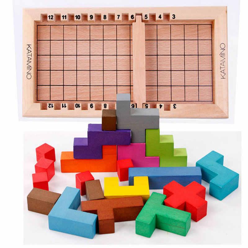 Бесплатная доставка деревянные строительные блоки катаминоигрушки, интеллектуальные блоки, детские игрушки/игрушки для взрослых
